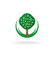 Foreign language school logo vector image