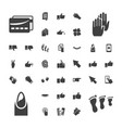 37 finger icons vector image vector image
