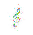 abstract treble clef vector image vector image