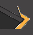 abstract yellow arrow gray metal shadow design vector image vector image