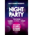 Advertising icon Night Party and Disco vector image vector image
