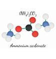 Ammonium carbonate N2H8CO3 molecule vector image vector image