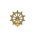 anchor nautical maritime sea ocean boat a vector image