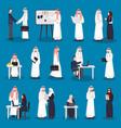 arabian business characters set