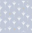 art deco diamond flowers in bright blue vector image