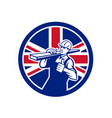 british lumberyard worker union jack flag icon vector image vector image