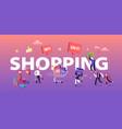 buyers have shopping fun concept seasonal sale vector image vector image
