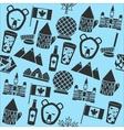 Canada symbols pattern vector image