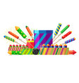 collection different types pyrotechnics vector image