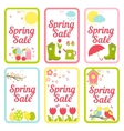 Collection of designs for Spring Sale signs vector image vector image