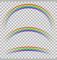 curved colorful rainbow on checkered background vector image vector image