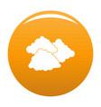 dark cloudy icon orange vector image