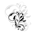 Decorative floral motif vector image vector image
