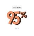discount 95 template design vector image vector image