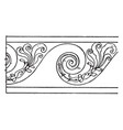 evolute spiral border is a wavelike pattern vector image vector image