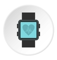Fitness smart watch icon flat style vector image vector image