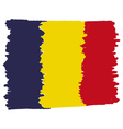 Flag of Romania handmade vector image