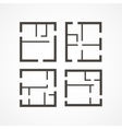 Floor plan icons vector image vector image