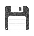 floppy disk sign black icon from many vector image vector image