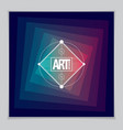 future geometric design template abstract vector image