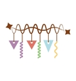 garlands party decoration isolated icon vector image vector image