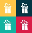 Gift box icons vector image vector image