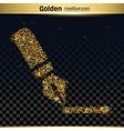 Gold glitter icon vector image