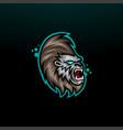 gorilla head mascot logo icon vector image vector image