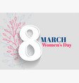 happy womens day greeting background vector image vector image
