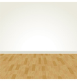 hardwood floor and blank wall vector image vector image