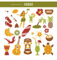 hawaii sightseeing landmarks and famous vector image vector image
