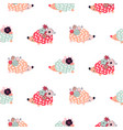 hedgehogs seamless pattern vector image