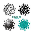 icon covid-19 sign and symbol vector image