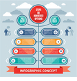Infographics Concept - Steps or Numbered Options vector image vector image