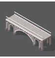 Isometric drawing of a stone bridge vector image vector image
