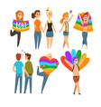 lgbt people community celebrating gay pride love vector image