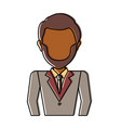 man professional avatar vector image