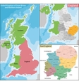 Map of East England vector image vector image