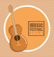 music festival live with acoustic guitar vector image
