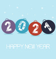 new year colored decoration 2021 with a balls vector image
