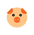 pig cartoon animal head vector image vector image