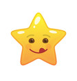 playful star shaped comic emoticon vector image vector image