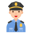police icon profession and job vector image vector image