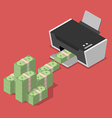 Printing money vector image vector image