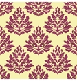Retro maroon crimson or dark red seamless pattern vector image vector image