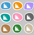 Rockfall icon Multicolored paper stickers vector image
