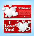 romantic decorative horizontal banners vector image vector image