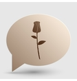 Rose sign Brown gradient icon on vector image vector image