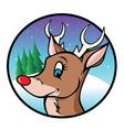 Rudolph reindeer cartoon vector image vector image
