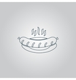 sausage on a plate vector image